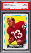 Football Cards:Singles (1960-1969), 1964 Topps Curley Johnson #114 PSA Gem Mint 10 - Pop One-of-One! ...