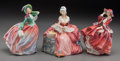 Ceramics & Porcelain, British:Modern  (1900 1949)  , Three Royal Doulton Porcelain Figures: Penelope, Top o'the Hill,Autumn Breezes, Lambeth, England, mid 20th cent... (Total: 3Items)