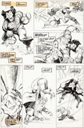 Original Comic Art:Panel Pages, John Buscema and Bill Sienkiewicz Wolverine #10 Page 22Original Art (Marvel, 1989)....