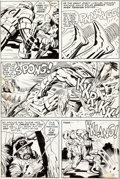 Original Comic Art:Panel Pages, Jack Kirby and Mike Royer Machine Man #7 Story Page 11Original Art (Marvel, 1978)....