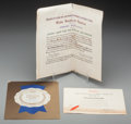 Shirley Temple - Group of Three Award Certificates (1947/50). 8-1/2 x 11 inches (21.6 x 27.9 cm)  Three awar
