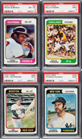 Baseball Cards:Sets, 1974 Topps Complete Set Plus Traded Set (660+44). ...