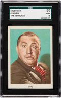 "Non-Sport Cards:Singles (Post-1950), 1959 Fleer ""Three Stooges"" Curly #1 SGC 86 NM+ 7.5...."