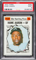 Baseball Cards:Singles (1970-Now), 1970 Topps Hank Aaron AS #462 PSA Mint 9 - None Higher....
