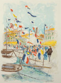 Decorative Prints, European:Prints, Urbain Huchet (French, b. 1930). Voiliers a Saint-Tropez.Lithograph in colors. 28-1/4 x 21 inches (71.8 x 53.3 cm). Ed....