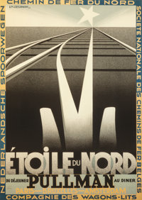 After A.M. Cassandre (French, 1901-1968) Etoile du Nord Poster Lithograph in colors 37-1/2 x 27 i