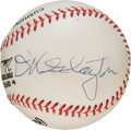 Baseball Collectibles:Balls, 1990's Mercury Seven Astronauts Baseball Signed by Six....