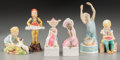 Ceramics & Porcelain, British:Contemporary   (1950 to present)  , A Group of Six Royal Worcester Polychrome Porcelain Figures,Worcester, England, mid-20th century. Marks to all: ROYAL WOR...(Total: 6 Items)