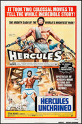 """Movie Posters:Action, Hercules/Hercules Unchained Combo (AVCO Embassy, R-1973). One Sheet (27"""" X 41"""") & Uncut Pressbook (12 Pages, 11"""" X 17""""). Act... (Total: 2 Items)"""