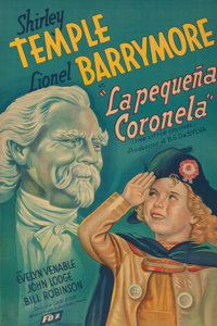 "Shirley Temple ""The Little Colonel"" Spanish Movie Poster (1935). 43-1/4 x 29-1/4 inches (109.9 x 74.3 cm)  2..."