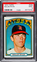 Baseball Cards:Singles (1970-Now), 1972 Topps Nolan Ryan #595 PSA Mint 9....