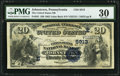 National Bank Notes:Pennsylvania, Johnstown, PA - $20 1882 Value Back Fr. 581 The United States NB Ch. # (E)5913. ...