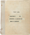 "Explorers:Space Exploration, Apollo 8 Original Test Log: ""Spacecraft 103 Guidance & Navigation"" for the Dates August 12 - December 21, 1968. ..."