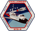 Explorers:Space Exploration, Space Shuttle Challenger (STS-6) Large Wooden MissionInsignia Plaque Originally Displayed in the KSC Astronau...
