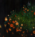 Fine Art - Painting, American:Contemporary   (1950 to present)  , Lesley Vance (b. 1977). Poppies, Roses, 2006. Oil on canvas.39 x 37 inches (99.1 x 94 cm). Signed and dated verso: Le...