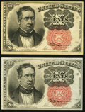 Fractional Currency:Fifth Issue, A Pair of Fr. 1265 10¢ Fifth Issue Notes Extremely Fine or Better..... (Total: 2 notes)