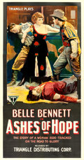 "Movie Posters:Western, Ashes of Hope (Triangle, 1917). Three Sheet (42"" X 80"").. ..."