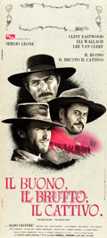 "Movie Posters:Western, The Good, the Bad and the Ugly (PEA, 1966). Italian Locandina (13""X 27"").. ..."