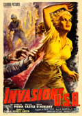 "Movie Posters:Drama, Invasion, U.S.A. (Columbia, 1954). Italian 4 - Fogli (55"" X 77"")Anselmo Ballester Artwork.. ..."