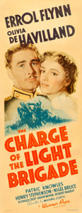 "Movie Posters:Action, The Charge of the Light Brigade (Warner Brothers, 1936). LinenFinish Insert (14"" X 36"").. ..."