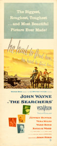 """Movie Posters:Western, The Searchers (Warner Brothers, 1956). Insert (14"""" X 36"""").. ..."""