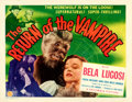 "Movie Posters:Horror, The Return of the Vampire (Columbia, 1943). Half Sheet (22"" X 28"")Werewolf Style.. ..."