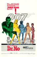 "Movie Posters:James Bond, Dr. No (United Artists, 1962). One Sheet (27"" X 41"") White Smoke Style.. ..."