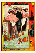 "Movie Posters:Drama, Traffic in Souls (Universal Film Manufacturing, 1913). One Sheet (27"" X 41"").. ..."