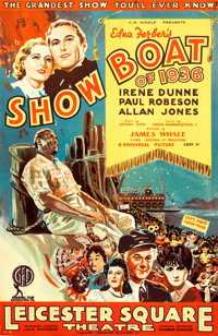 """Show Boat (Universal, 1936). Full Bleed British Double Crown (19.25"""" X 23.75"""")"""