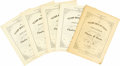 "Miscellaneous:Ephemera, Five Copies of the Texas Centennial Limited Edition Sheet Music for""The Yellow Rose of Texas"".... (Total: 5 Items)"