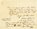 Autographs:Military Figures, Historically Important William Barret Travis Manuscript DocumentSigned ...