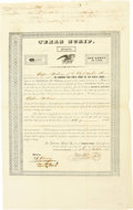 Autographs:Statesmen, Thomas Toby Texas Scrip Document Signed...