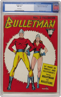 Bulletman #2 Mile High pedigree (Fawcett, 1941) CGC NM 9.4 Off-white pages