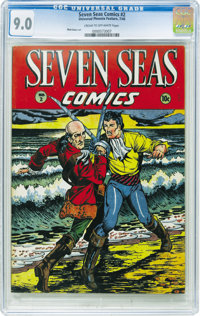 Seven Seas Comics #2 (Universal Phoenix Feature, 1946) CGC VF/NM 9.0 Cream to off-white pages