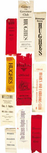Political:Ribbons & Badges, Charles E. Hughes: A Unique Collection of Ten Campaign Ribbons from Various States.... (Total: 10 Items)