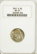 Jefferson Nickels: , 1941-S 5C MS67 NGC. NGC Census: (83/0). PCGS Population (1/0).Mintage: 43,445,000. Numismedia Wsl. Price for NGC/PCGS coin...