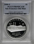 Modern Issues: , 2006-S $1 SF Old Mint PR69 Deep Cameo PCGS. PCGS Population(2387/178). NGC Census: (0/0). Numismedia Wsl. Price for NGC/P...