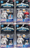 Explorers:Space Exploration, Power Rangers in Space by Bandai: Alan Bean (Black), Charles Conrad(Red), and (Two) Charlie Duke (Blue), All New in Package....(Total: 4 Items)
