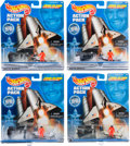 Explorers:Space Exploration, John Glenn, Great American Hero Hot Wheels Action Packs (Four), AllNew in Package. ... (Total: 4 Items)