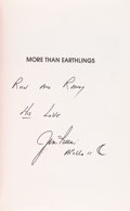 Autographs:Celebrities, Jim Irwin Signed Book: More Than Earthlings. ...