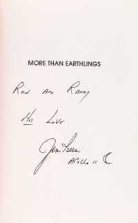 Jim Irwin Signed Book: More Than Earthlings