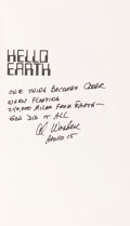 Autographs:Celebrities, Al Worden Signed Book: Hello Earth, Greetings FromEndeavour. ...