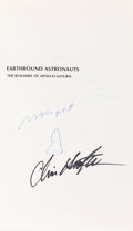 Autographs:Celebrities, Max Faget and Chris Kraft Signed Book: Earthbound Astronautsby Bernie Lay, Jr. ...