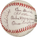 Baseball Collectibles:Balls, 1974-76 Baseball Greats Multi-Signed Baseball with Satchel Paige from The Gary Carter Collection. ...