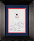 Baseball Collectibles:Others, 2008 Baseball Hall of Fame Multi-Signed All-Star Game CelebrationInvitation from The Gary Carter Collection....