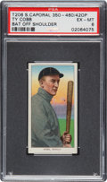 Baseball Cards:Singles (Pre-1930), 1909-11 T206 Sweet Caporal 350 Ty Cobb (Bat Off Shoulder) PSA EX-MT6 - Factory 42 Overprint. ...