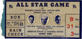 Autographs:Baseballs, 1936 All-Star Game Ticket Stub from The Joe Carr Find....