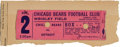 Football Collectibles:Others, 1934 Chicago Bears Complete Undefeated Regular Season Ticket Stub from The Joe Carr Find....