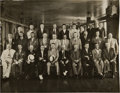 Football Collectibles:Photos, 1930's NFL Team Owners Meeting Large Photograph from The Joe Carr Find....
