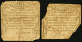 Colonial Notes:Massachusetts, Massachusetts October 16, 1778 4s Two Examples.. ... (Total: 2notes)